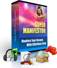 The Super Manifesting Program contains 12 Guided Manifesting Meditations on MP3 Audio and over 300 pages of Manifestation Material that will transform you into a Manifesting Magnet!
