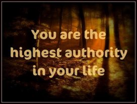 Click Here to Realize How to Become the Authority of your Life!